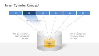 6 Steps Cylinder Diagram Infographic Slides