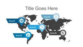 Free World Map Agenda Presentation Slides