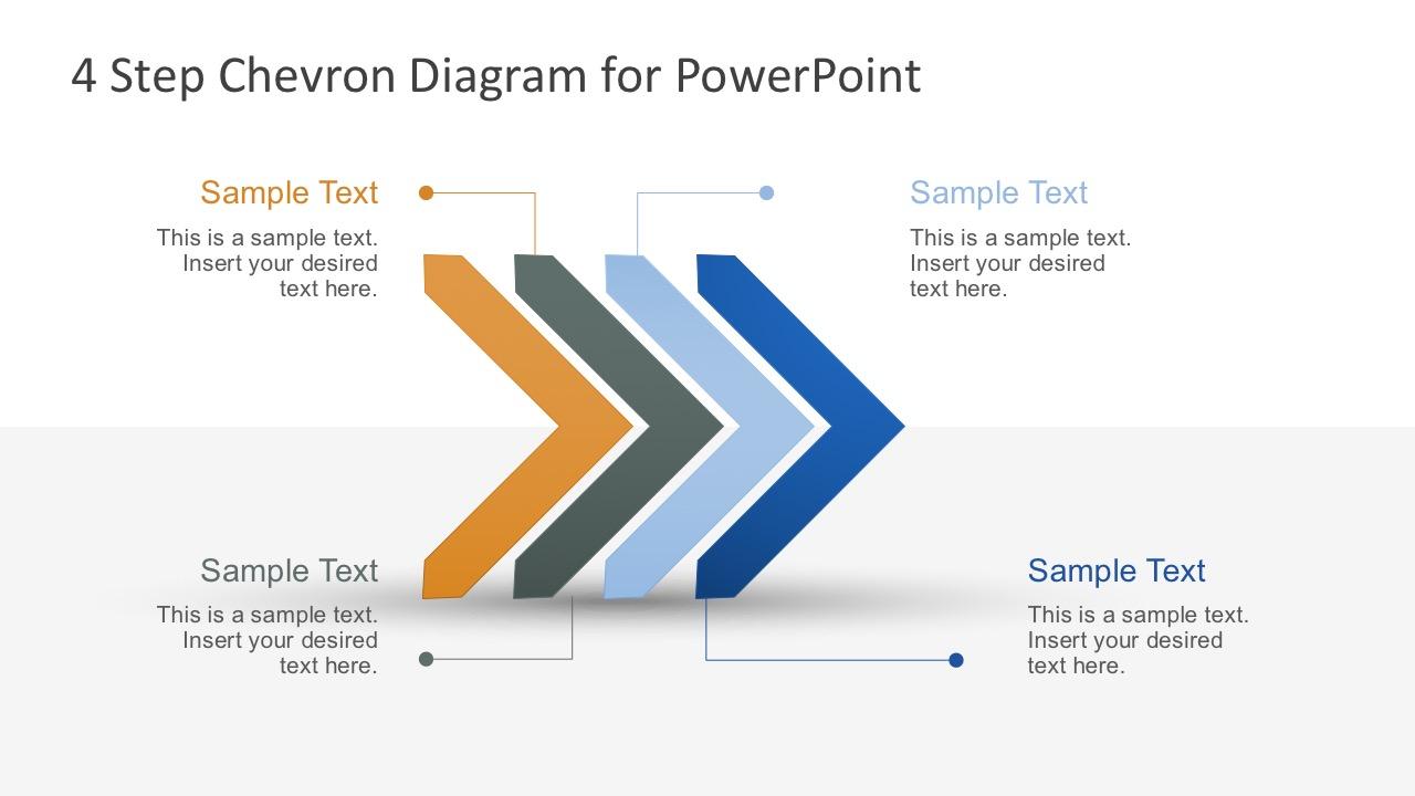 free modern chevron diagram for powerpoint slidemodel