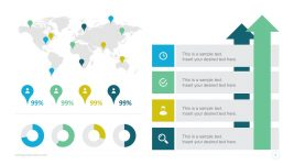Free Global Statistics PowerPoint Infographics