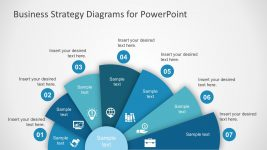 7 Step Fan Diagram for PowerPoint