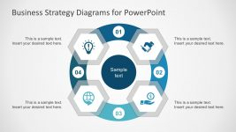 Hexagonal Diagrams with PowerPoint Icons