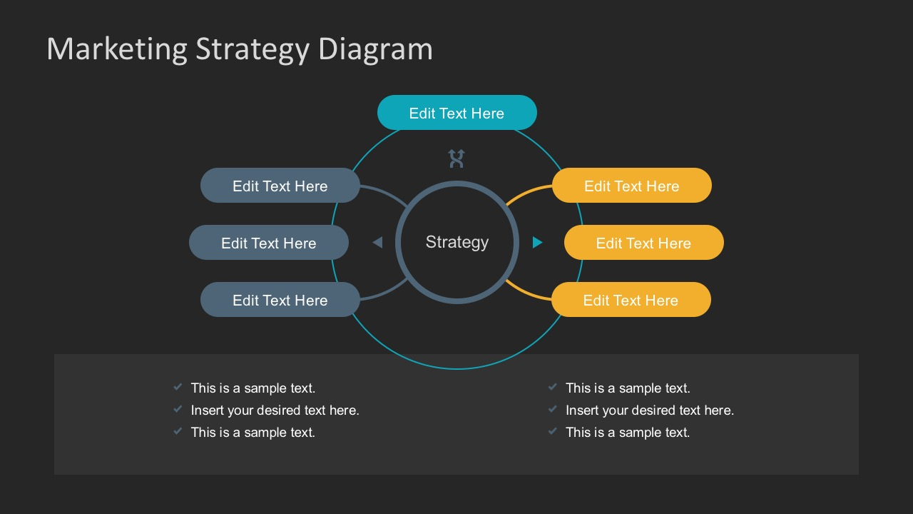 free 6 step marketing plan business diagram slidemodel template for process flow diagram