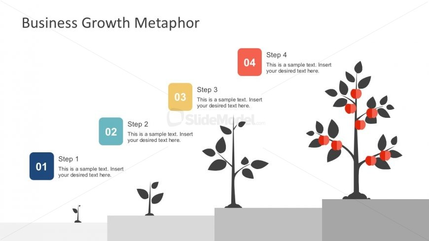 Tree Growth Metaphor Diagrams Template