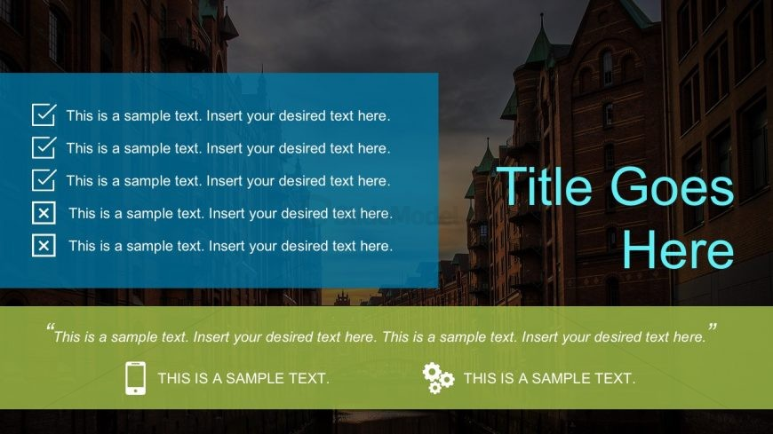 Nice PowerPoint Themes with Checklist