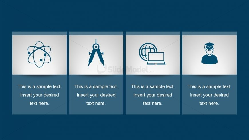 Free 4-Step Template Chart for PowerPoint
