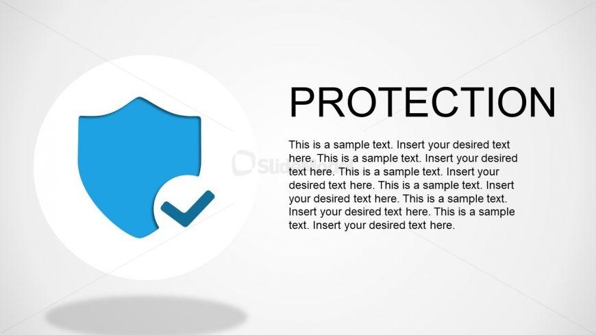 Security Protocols Blue Shield Symbol