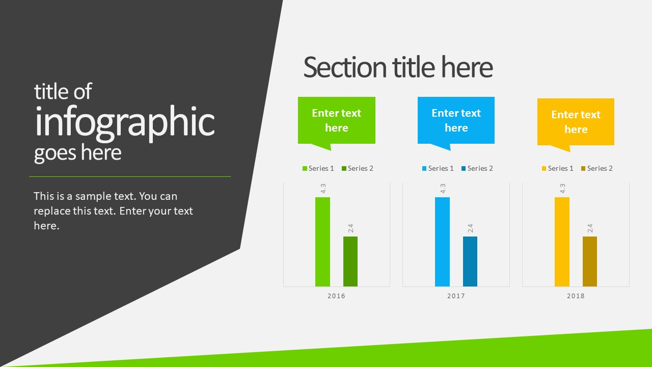 free animated business infographics powerpoint template - slidemodel