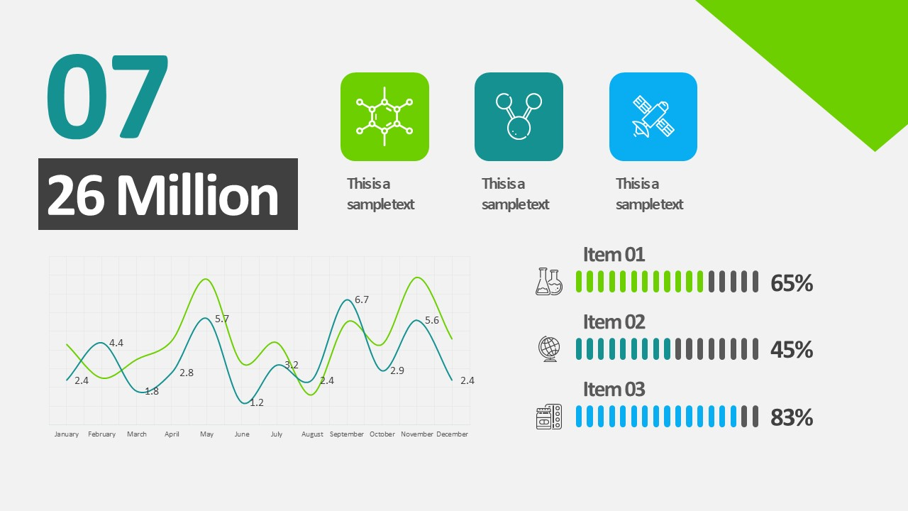 Infographic animation template free