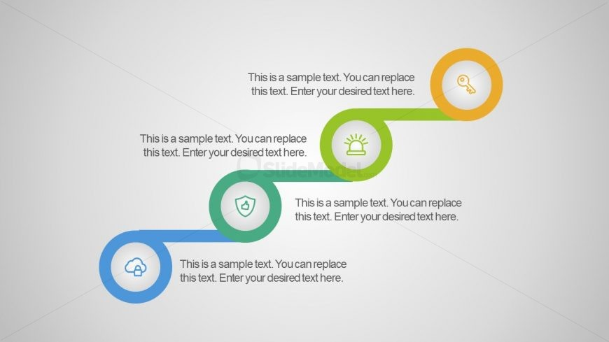 Editable Process Diagram Free Flat Infographics Slidemodel
