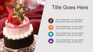 PowerPoint Layout Cake Image Slide