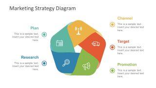 Five Step Flat Design Vector Diagram