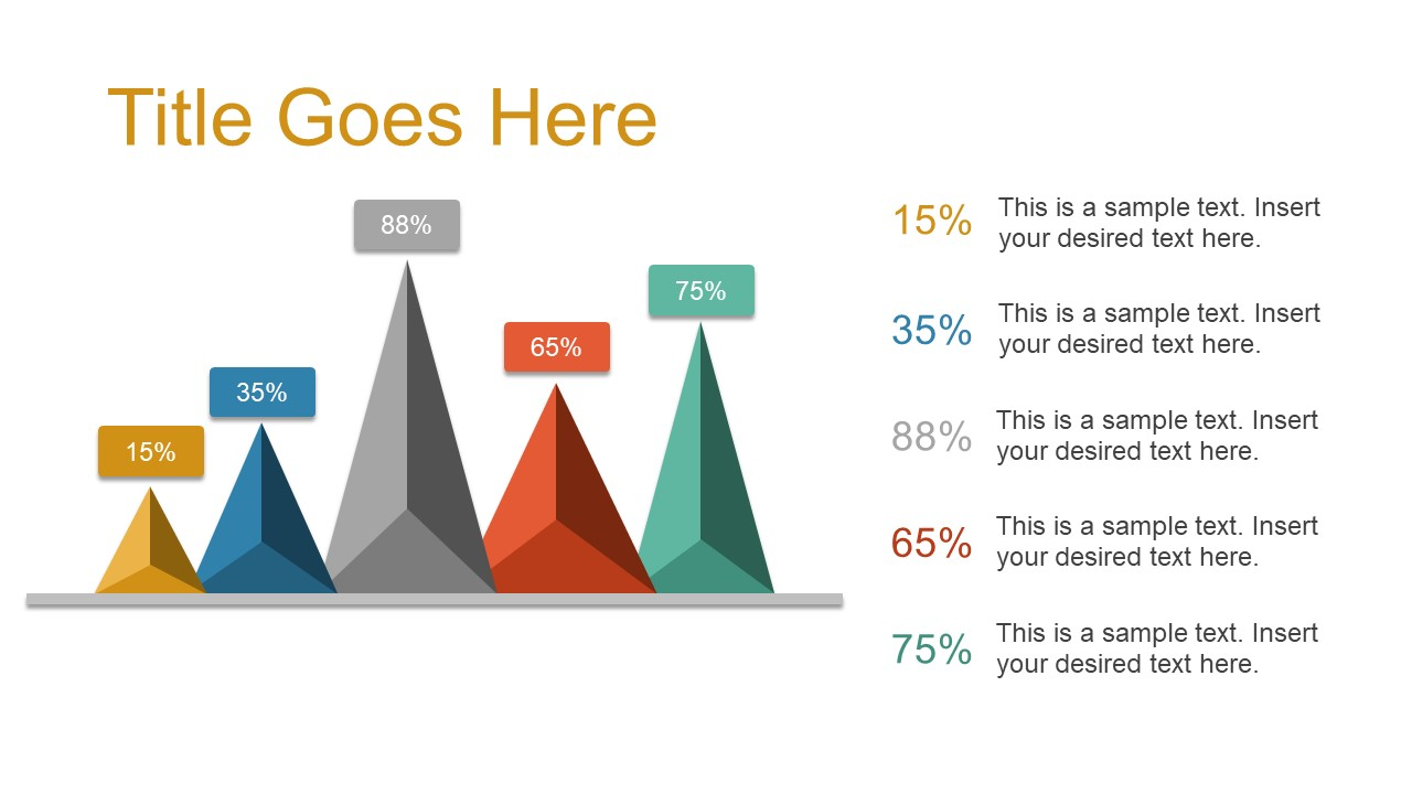 Statistical Analysis PowerPoint 3D Triangular