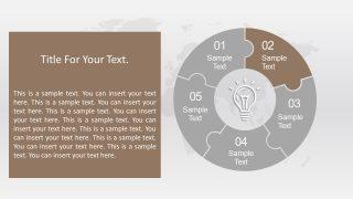 Lightbulb PowerPoint of Circular Diagram