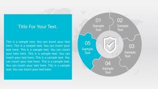 Shield Icon Slide of Puzzle Diagram