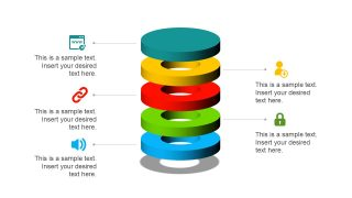 3D Circular Stack Diagram PPT