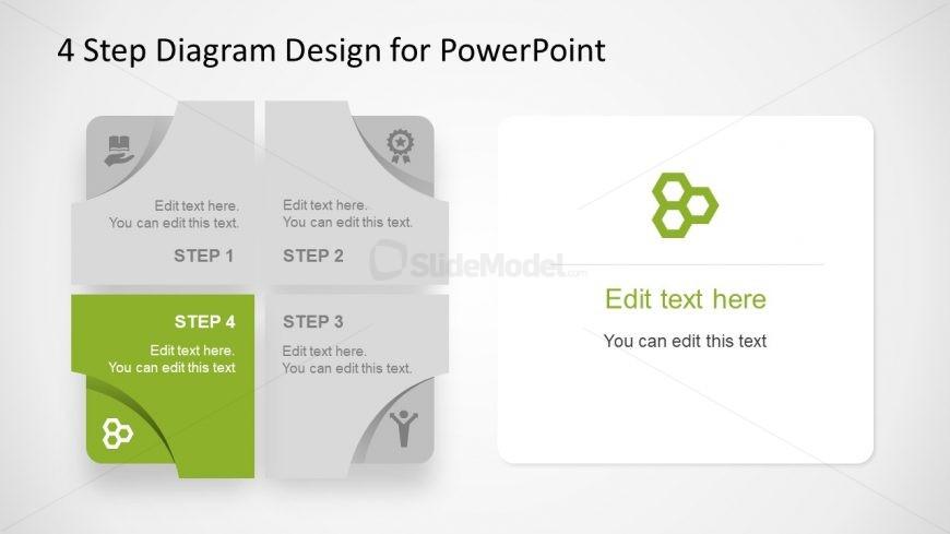Editable Diagram 4 Step Free PowerPoint