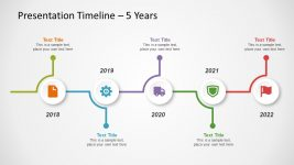Horizontal Timeline Infographic Diagram