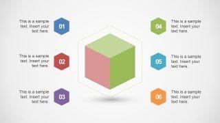 Cube Design 6 Segments Template
