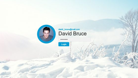 Login Page Template of Dashboard
