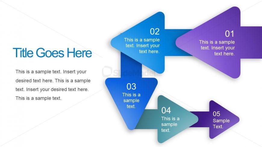 5 Step Arrow Diagram Design