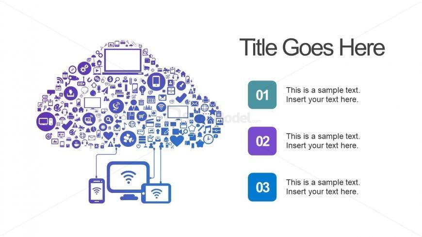 Cloud Computing PPT Slide of Infographics