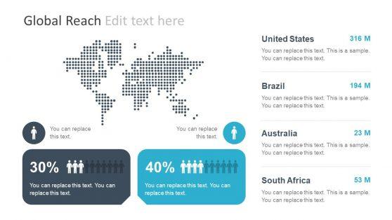 Digital PowerPoint World Map Graphics