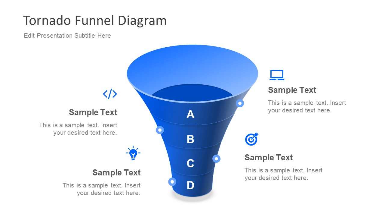 Free PPT Diagram of Funnel