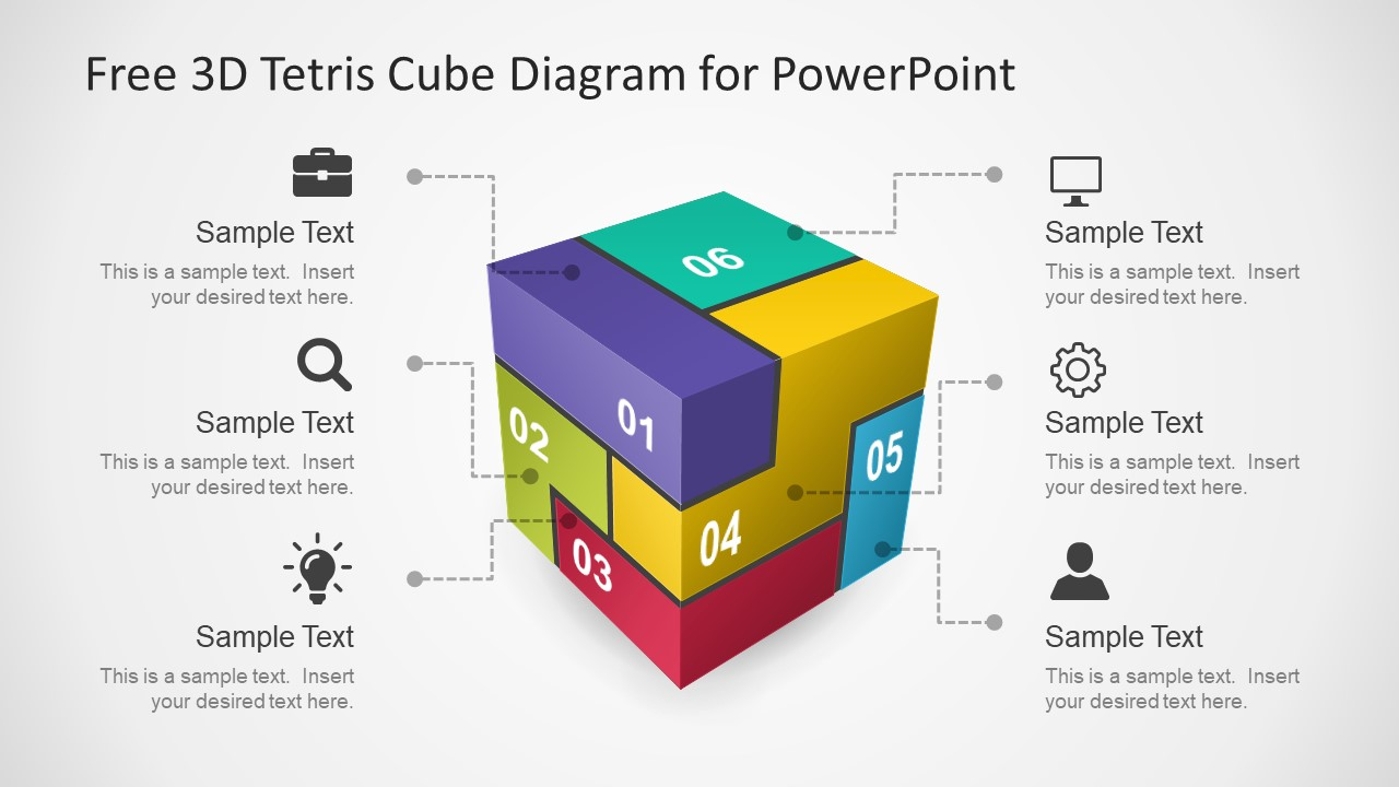 Free 3d Tetris Cube For Powerpoint
