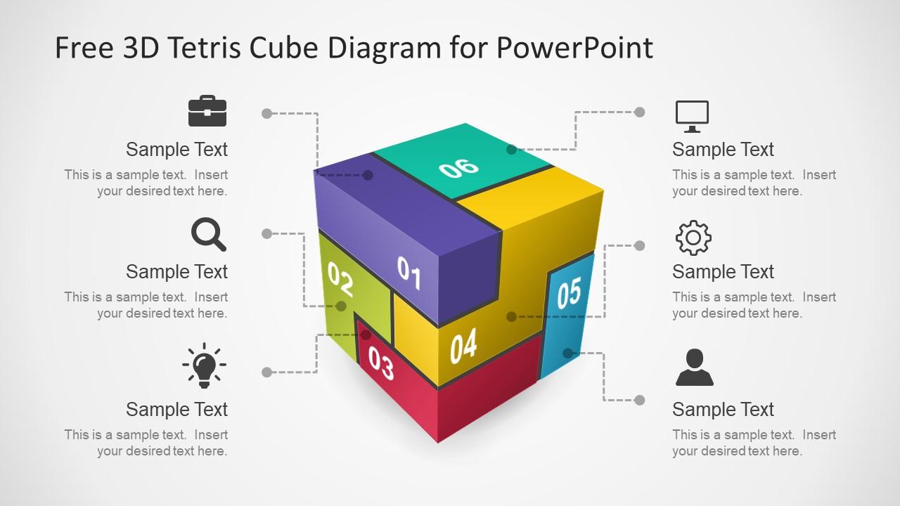 3D Cube Puzzle Diagram