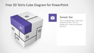 Vector Slide Diagram for Cube