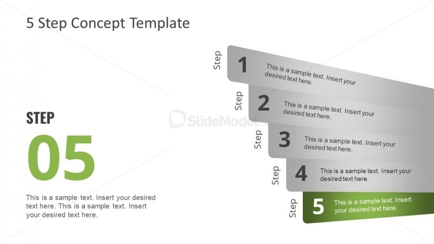 5 Step Diagram Concept Layout