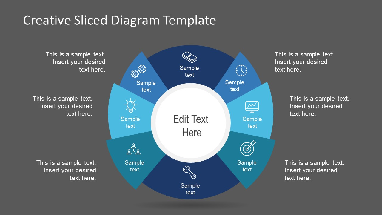 Presentation of Creative Sliced    Diagram     SlideModel