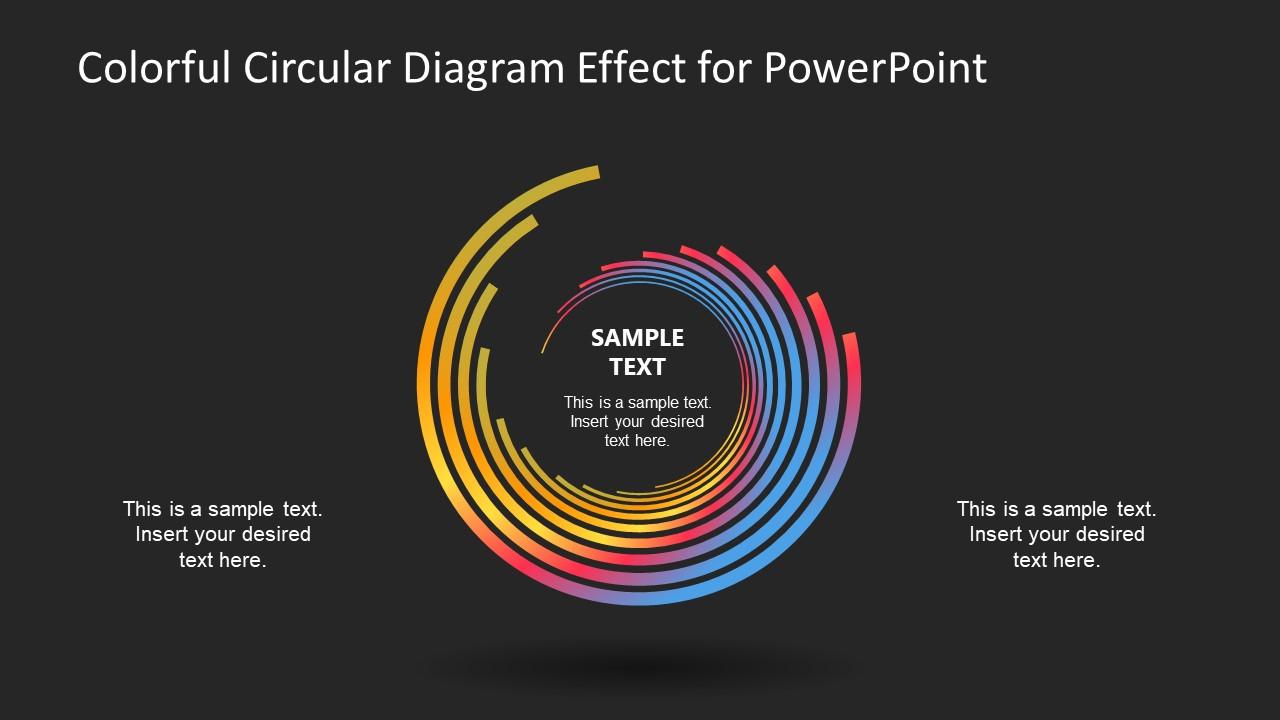 Slide of Free Circular Colorful Template