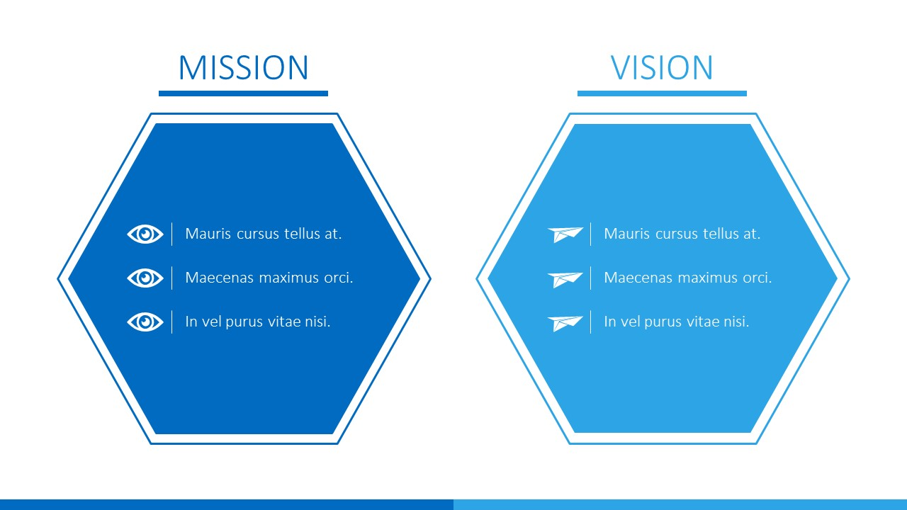 Free Vision and Mission Business PowerPoint Template