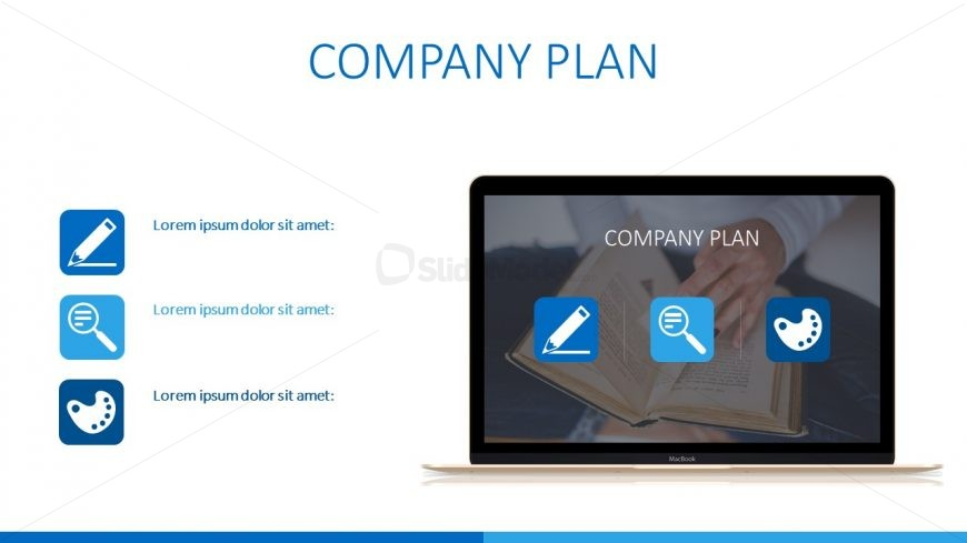 Strategic Management and Plan Laptop View