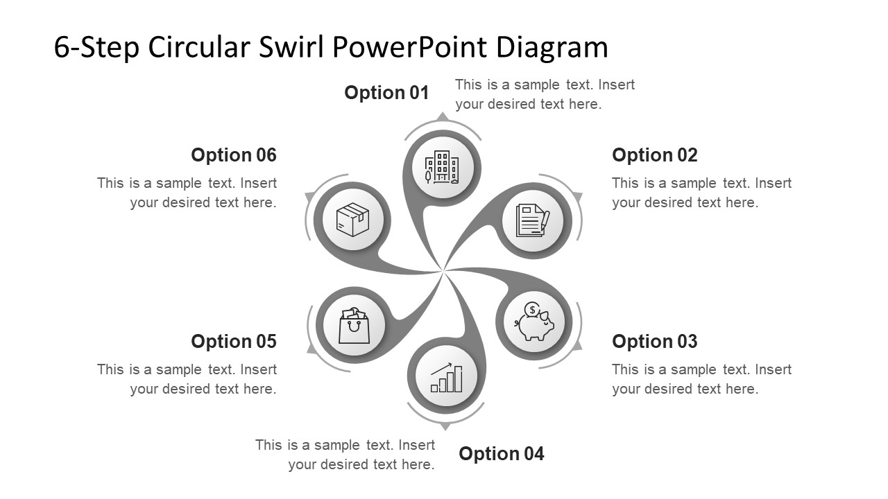 6 Steps Circular PowerPoint Slide
