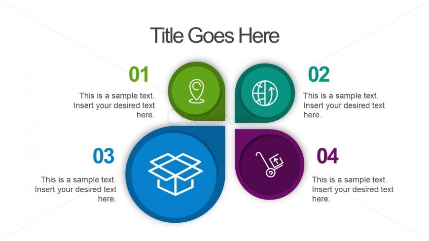 Infographic 4 Steps Template Slide
