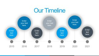 Horizontal Timeline Diagram Design