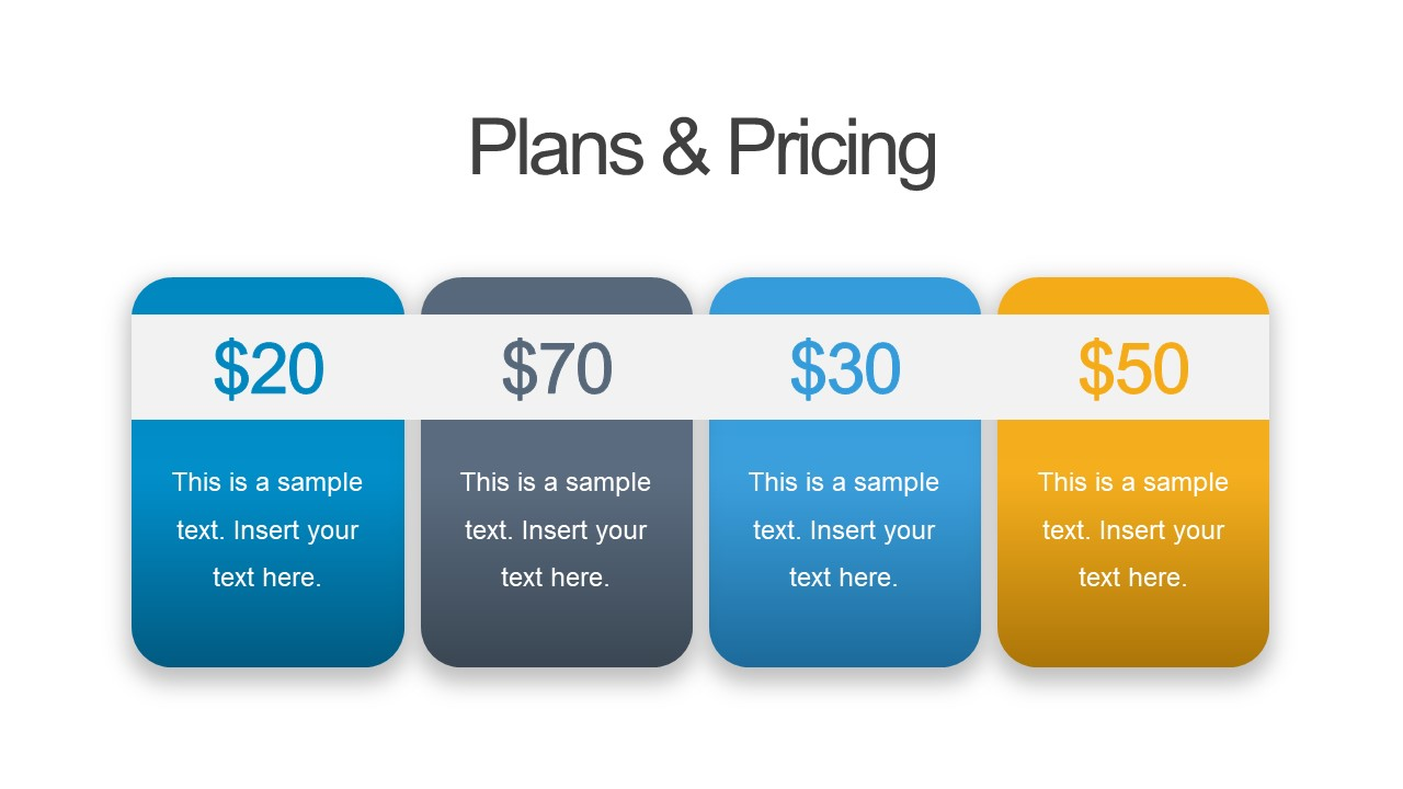 Business PowerPoint with Price and Plan