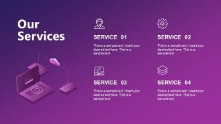 Services Slide in Technology Company Introduction