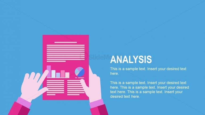 Flat Design of Report in PowerPoint