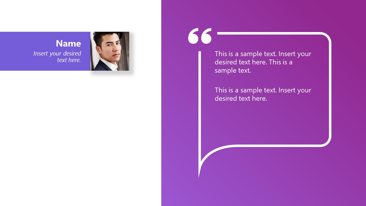 Quotation Layout for Testimonial