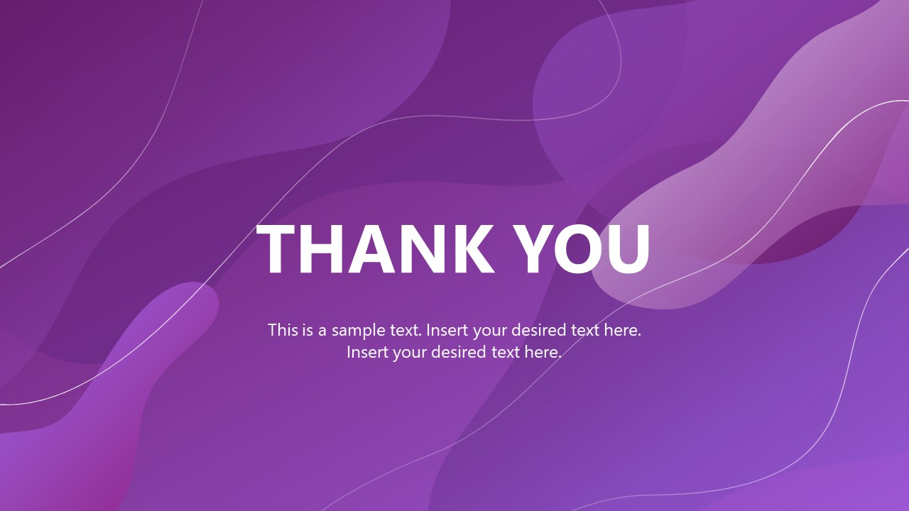 Presentation of Thank you Design