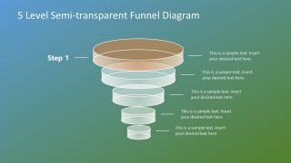 Vertical Funnel Diagram Template