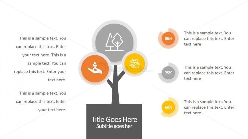 3 Step Infographic Tree Diagram