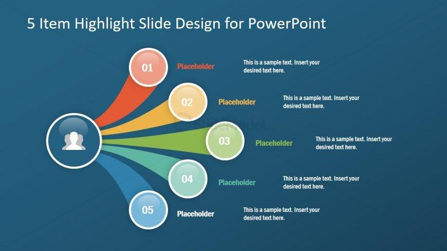 5 Steps Agenda Presentation Layout