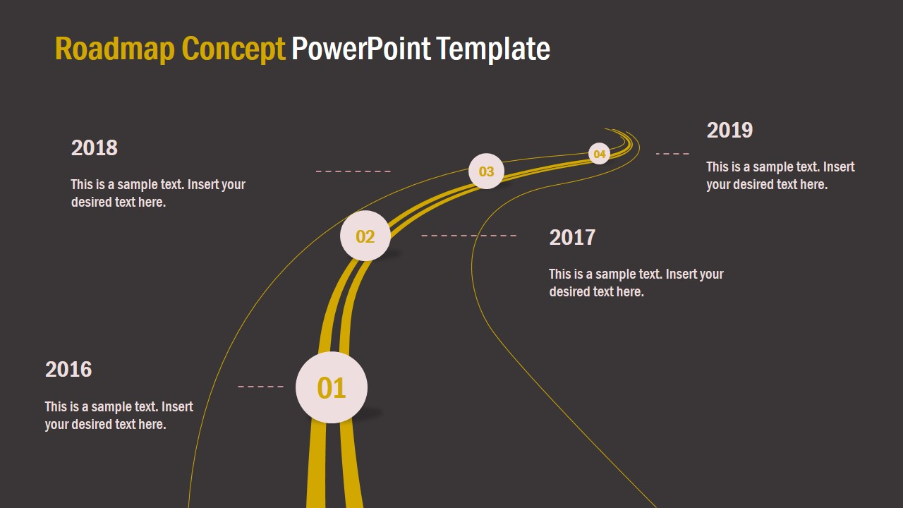 Free Powerpoint Template Night Roadmap