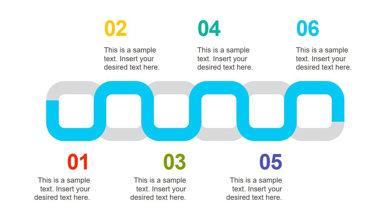 PowerPoint 6 Steps Diagram