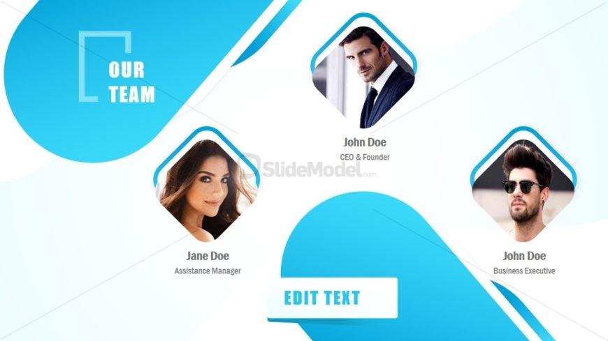 Team Template in Business Slide Deck